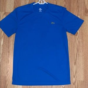Lacoste sport athletic tee in blue - size M